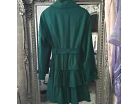 Green coat size 12 lovely colour and style