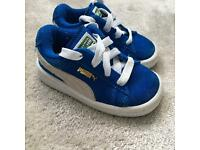 Boys Puma trainers size 3 infant