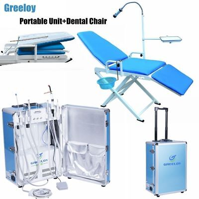 Portable Dental Chair Dental Delivery Unit With Air Compressor Scaler 4 Hole