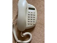 BT landline ivory phone