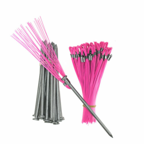 Marking Flags 6 In Pink Whiskers with Hard Ground Stakes 20 Pack, Survey
