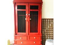 Balinese cabinet. Linen cupboard. Tc media storage. Wardrobe