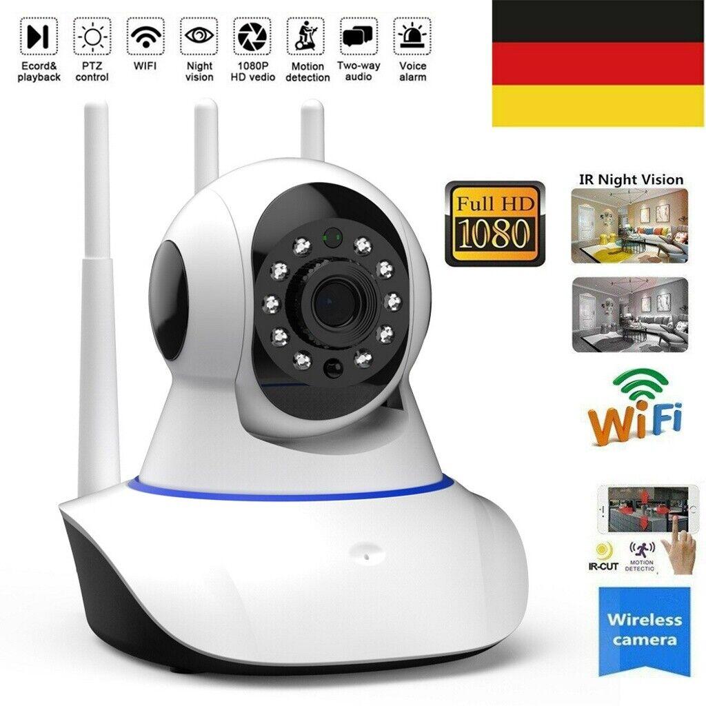 WIFI IP Kamera 1080P Wlan Überwachungskamera Webcam Nachtsicht Babyphone Camera