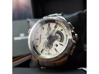 New boxed with papers silver bracelet white dial Rag heuer grand carrera caliber sweeping chrono