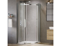 8mm - Luxe Frameless EasyClean Quadrant Shower Enclosure RPR £229.99 BARGAIN