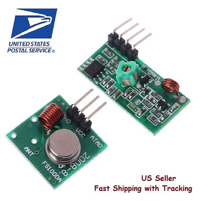 433mhz Rf Transmitter And Receiver Module Link Kit For Arduino - Us Seller Fast