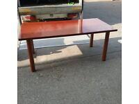 Dark cherry straight table/ desk