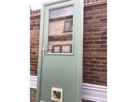 Composite double glazed door