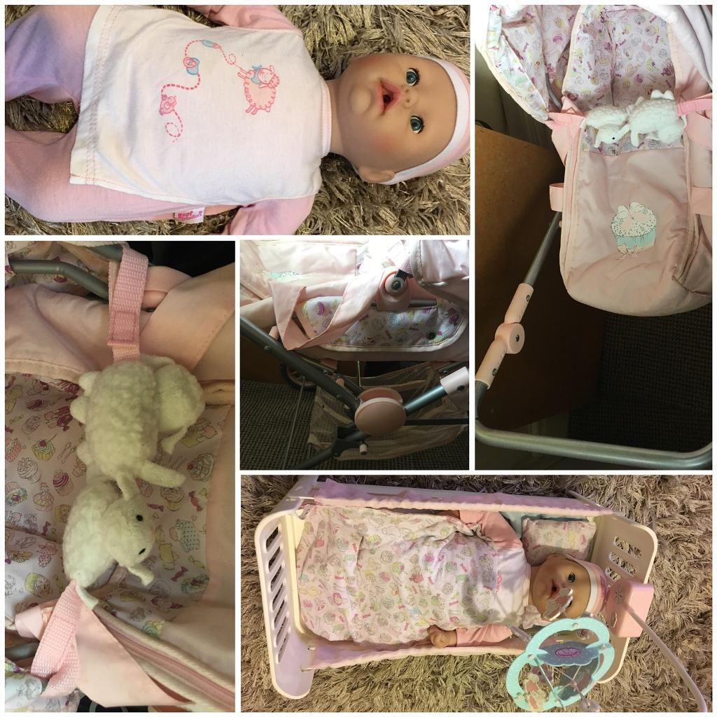 Huge lot of Zapf baby Annabelle items, doll and clothes