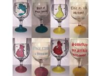 Disney princess mini wine glasses