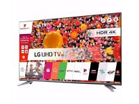 """LG 43UH750V 43"""" Freeview HD and Freesat HD & Freeview Play Smart 4K Ultra HD w/ HDR TV Titan Silver"""