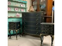 Olympus Bedroom Furniture Professionally Painted Black & Gold