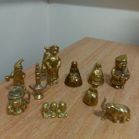 10 Assorted Brass Figurines