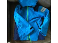 waterproof hooded jacket age 6-7 with removable fleece BNWT