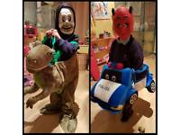 Police car and dinosaur dressing up costumes ages 4 to 10