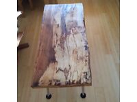 Spalted Beech Coffee Table with Chrome Legs