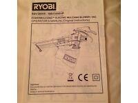 Mulching blower/leaf vacuum, electric, RYOBI