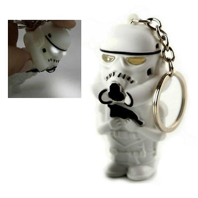 LED STORMTROOPER KEYCHAIN w LIGHT and SOUND Toy Keyring Key Chain Ring Star Wars