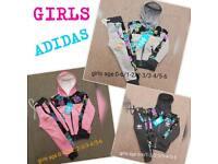 Girls Adidas tracksuits