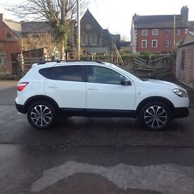 Nissan Qashqai 360 1.6 diesel start/stop Arctic white full service history