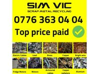 Free scrap metal collection London   All areas   Top price paid   The same day collection