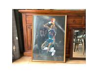 Large framed basketball picture