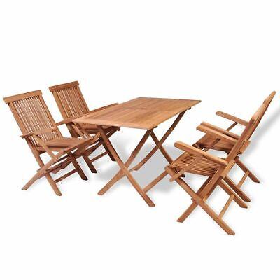 5x solid teak wood folding outdoor dining