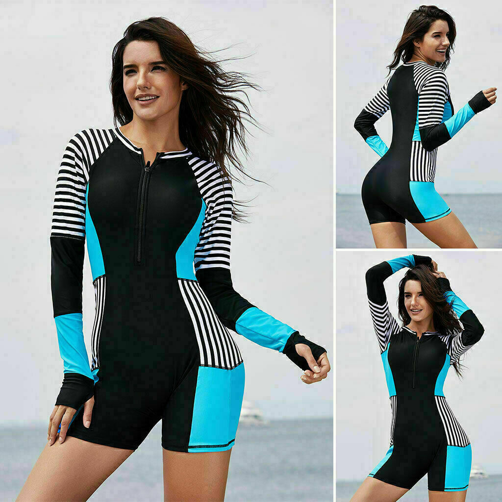 Women Rash guard One Piece Long Sleeve UV Protection Surfing