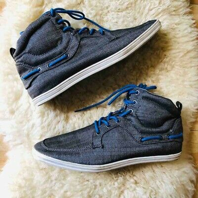 Zara Grey Mens ZR75 Young Line Shoes High Top Blue Laces Sneakers  EUR 43 US 10