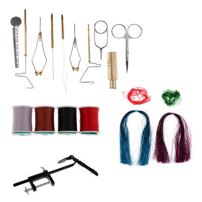 Hackle Stacker (19-Pieces Fly Tying Tools Kit, Hackle Pliers/Bobbin Holder/Hair)