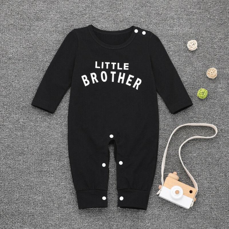 Newborn Infant Baby Boy Girl Button Letter Romper Jumpsuit Playsuit Clothes