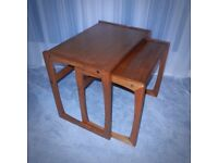 VINTAGE RETRO CHIC 60's 70's NEST OF TWO TABLES
