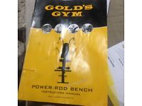 Golds gym power rod flex bench as new £15 due to house clearance