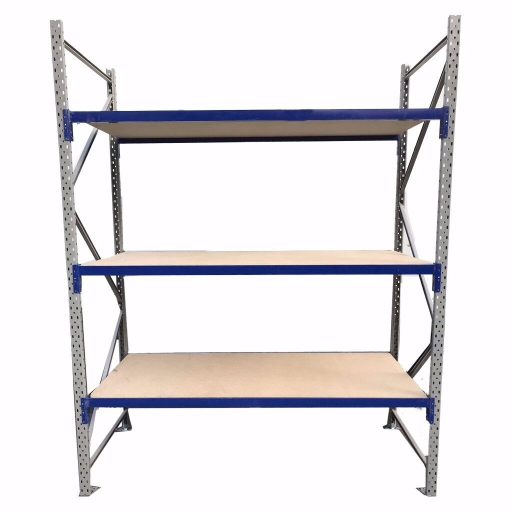 PLANNED STORAGE SHELVING UNIT USED (VERTICAL BEAM,SHELVE FRAME, WOOD) ONO