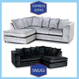 🏱New 2 Seater £169 3S £195 3+2 £295 Corner Sofa £295-Crushed Velvet Jumbo Cord Brand M1