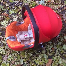 Cybex baby car seat. orange with pram adaptors