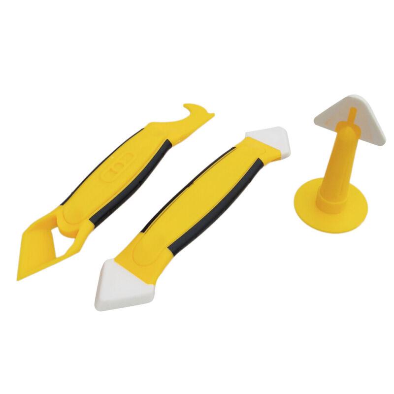 3Pieces Silicone Caulking Tool Kit Sealant Replace & Removal w/ Caulk Nozzle