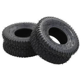 Wheelbarrow Tyres 2 pcs 15x6.00-6 4PR-145269