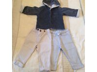 Like new. Will post. Bundle 9 - 12 months old baby boy clothes m&s jacket and chino pants