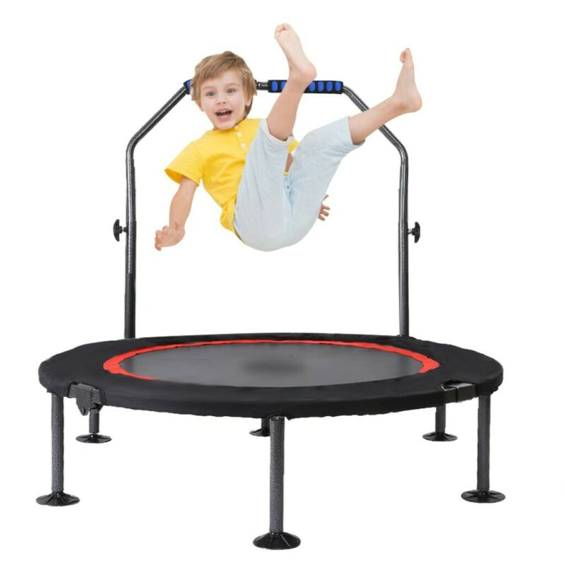"40"" Mini Rebounder Trampoline Exercise Fitness Gym W/Adjusta"