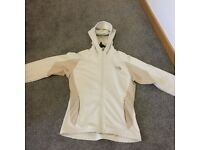 LADIES NORTH FACE JACKET CREAM/COFFEE SIZE 12