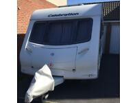 Caravan swift celebration 2009 4 berth with fixed double bed