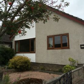 Detached 3 bedroomed house with garage for rent in Ellon