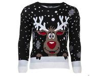 Men Women Ladies Unisex Rudolph Reindeer Christmas Jumper For Winter Gift