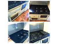 Belling Dual Fuel Range Cooker Cream 110cm FULLY WORKING - LOCAL FREE DELIVERY
