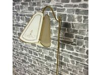 BHS Earthed Clolour Brass Floor Lamp