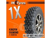 1x 7.50R16 Kingpin Highlander Diamond Off Road Mud Terrain MT 4X4 Tyres x1