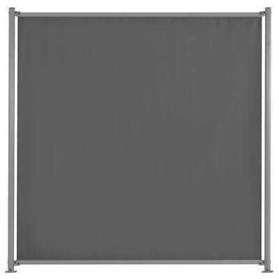 vidaXL Fence Panel with 2 Posts Fabric 180x180cm Anthracite Board Barrier