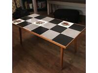 Quirky vintage tile top coffee table