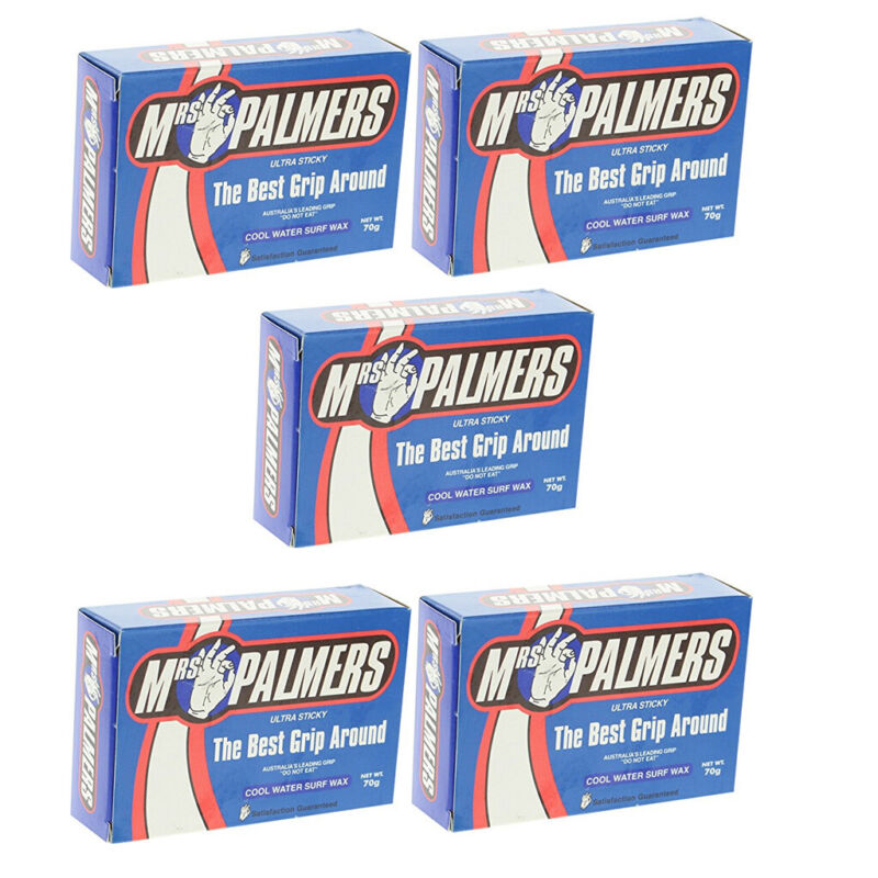Mrs Palmers Surfboard Wax Cool 5-Pack